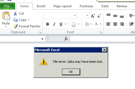 lost excel file
