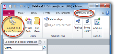 Ms Access databse compcat and repair problems
