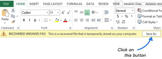 The document will be open in Excel and program will say you to save it ...