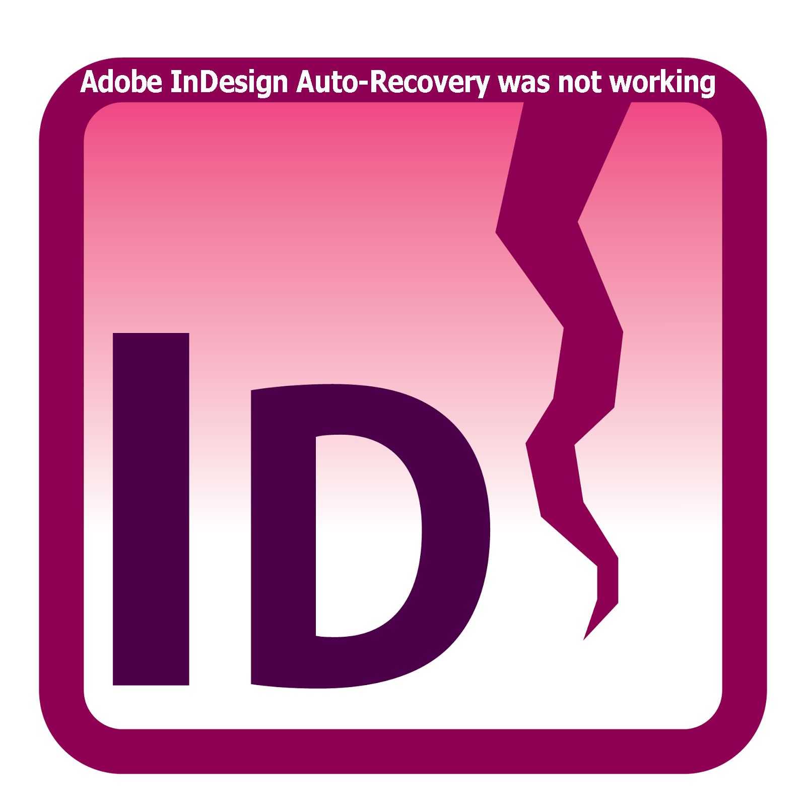 Adobe InDesign Auto-Recovery was not working