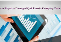 How to Repair a Damaged Quickbooks Company Data File