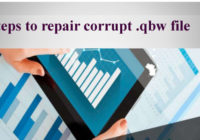 repair corrupt .qbw file