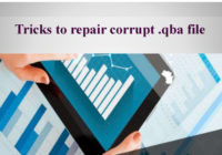 Tricks to repair corrupt .qba file