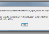 solution to fix Quickbook Error 6150-0 code