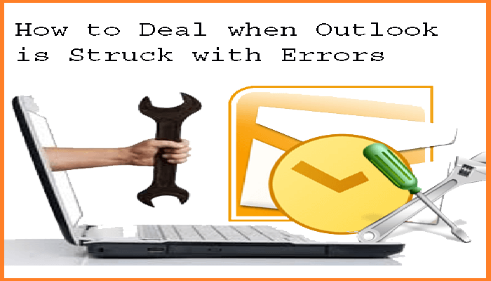 outlook pst struck with errors