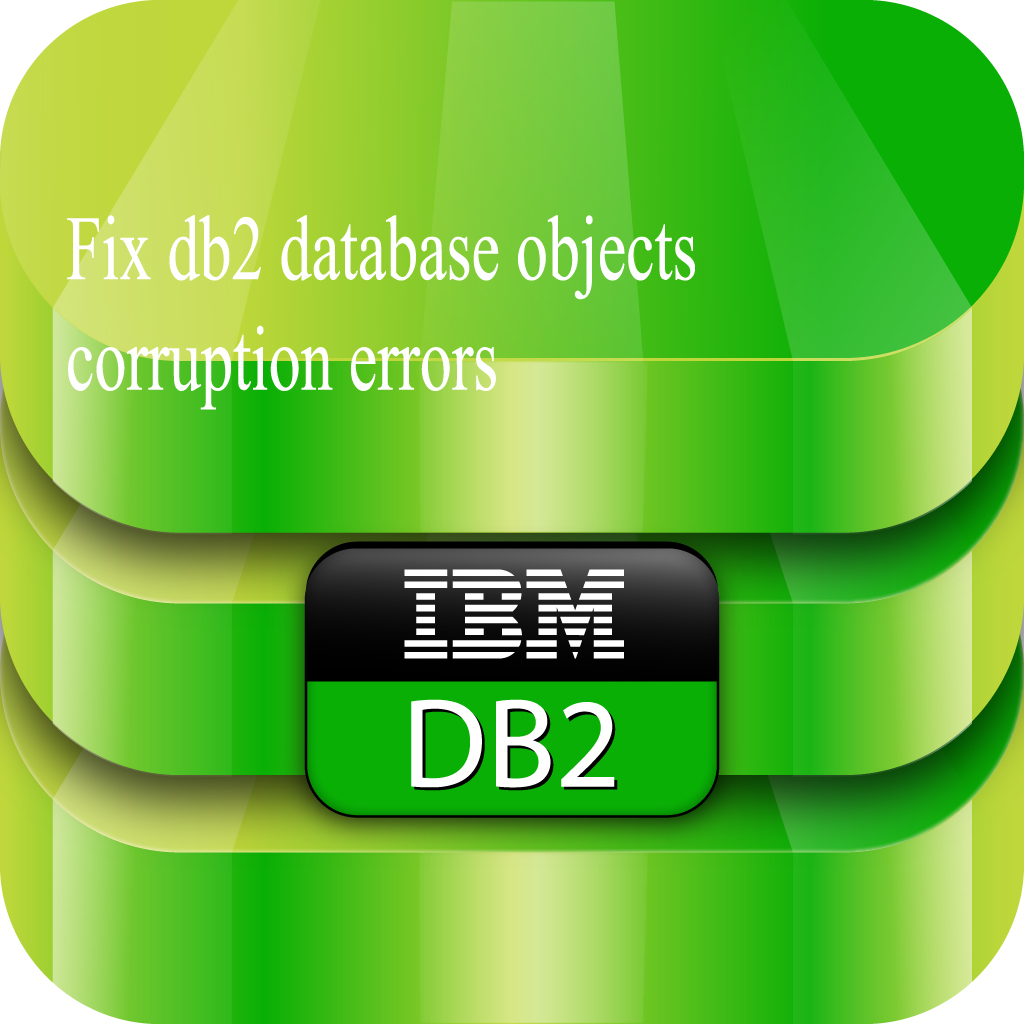 resolve db2 database objects corruption errors