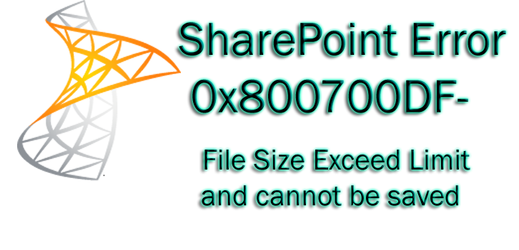 fix sharepoint error 0x800700df