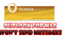 Outlook for Mac won't send messages