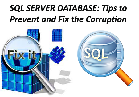 fix corrupted SQL server database
