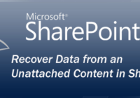 Recover Data from an Unattached Content in SharePoint