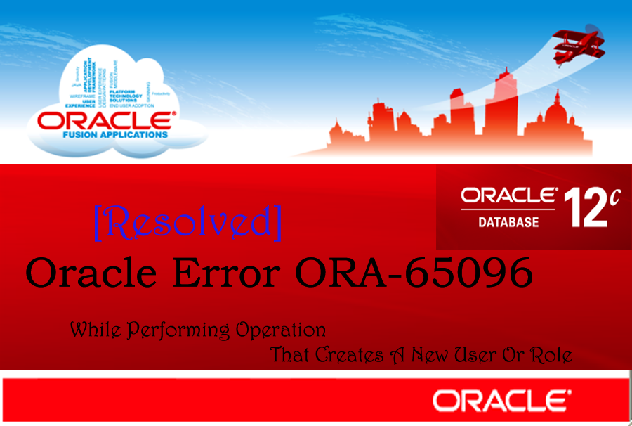 Oracle Error ORA-65096