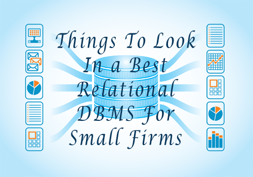 Relational DBMS For Small Firms