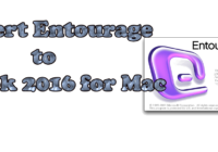 Convert Entourage to Outlook 2016 for Mac