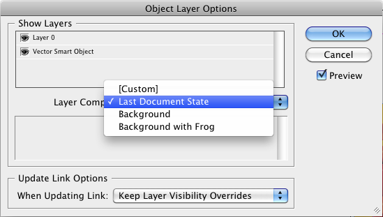 Set layer visibility