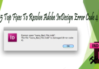 Troubleshoot Adobe InDesign Error Code 4