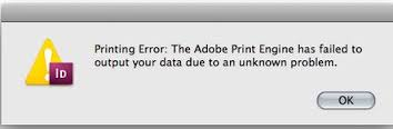 Adobe Print Engine Has Failed