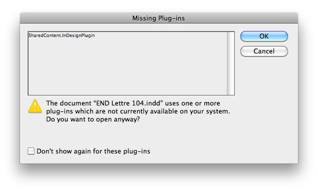 How To Troubleshoot InDesign Missing Plug-Ins IssueFile