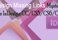 indesign missing link