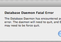 fix Database Daemon Fatal Error