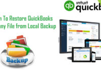 Restore QuickBooks Company File From Local Backup