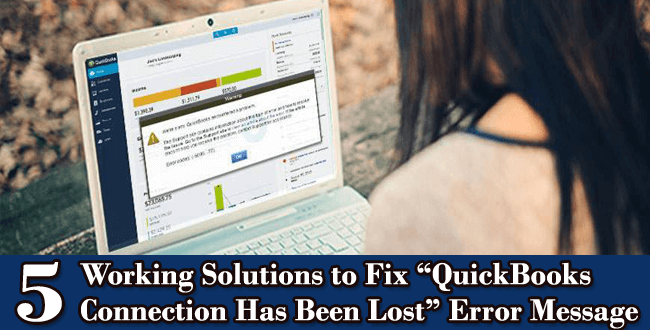 fix QuickBooks Connection Has Been Lost